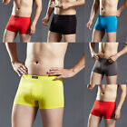 2017 Men Fashion Solid Low Waist Cotton Spandex Boxer Briefs Underwear