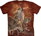 The Mountain Unisex Child Red Glow Wolves Animal T Shirt