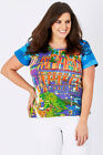 NEW Orientique Womens Tees Printed Venice Tee