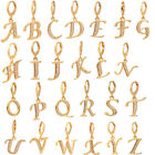 Women Gold Plated Cubic Zirconia CZ English Letters Drop Earrings Jewelry image