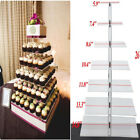 tiered cupcake stands - 4 5 6 7 Tier Crystal Clear Acrylic Square Wedding Cupcake Stand Display Tower EK