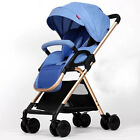 Baby Stroller Aluminum Alloy Lightweight Anti-vibration Folding Retractable Shed