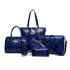 Chinese Styles Leather Composite Bag 6 Set Women's Handbags Shoulder Crossbody