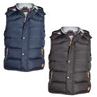 Duke D555 Mens Gerry Designer Hooded Fleece Lined Heavy Quilted Gilet Bodywarmer