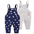 Infant Boys' Bib Overalls With Star Pattern Boys Trousers Casual Overalls Pants