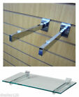 Slatwall Panel Glass Shelf Brackets (PAIRS) Shopfitting Shelving Display Arms