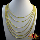 REAL 10K YELLOW GOLD A+++ PREMIUM QUALITY ROPE CHAIN NECKLACE 2.5 MM 16~26 INCH