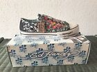 Ed Hardy Mens Shoes NEW Sneakers with box low rise Black Flaming Skull