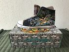 Ed Hardy Mens NEW Winter LKS Blue Sneakers with box high rise Fur lining shoes