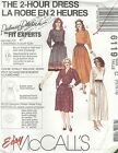McCall's 6119 Misses' Dresses in Two Lengths 10, 12, 14   Sewing Pattern