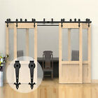 4-20FT Sliding Barn Door Hardware Closet Rustic Rail Kit for One/Two/Bypass Door