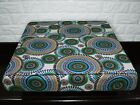 AF255t Green Blue Flower Cotton Canvas 3DBox Sofa Seat Cushion Cover Custom Size