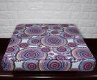 AF256t Fuschic Blue Flower Cotton Canvas 3DBox Sofa Seat Cushion Cover Customize
