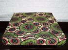 AF259t Green Olive Flower Cotton Canvas 3DBox Sofa Seat Cushion Cover CustomSize