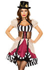 Roma womens deluxe steampunk top hat costume