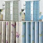 Patterned Thermal Blackout Curtains Eyelet Ready Made Pair Of Curtain