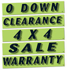 Slogan Window Stickers - Car SUV Options Features (Green / Black) (12 per pack)