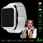 Z60 Stainless Steel Mens Smart Bluetooth Watch Phone Mate for Android IOS 2017