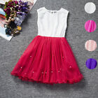 Fashion Baby Girls Party for Lace Tulle Flower Gown for School Wear Sundress