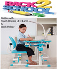 Kid's Height Adjustable Desk Chair with LED Lamp & Book Holder Ages 3-14 Galileo