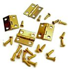 Small Hinges + Screws Brassed Jewellery Box Dolls House Hinge Multi List