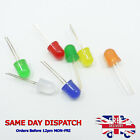 10mm Diffused LED Diode 20mA Ultra-Bright Red Green White Yellow Blue Orange