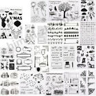 Transparent Silicone Clear Rubber Stamps Scrapbooking Card Decor Diary DIY Craft