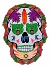 Day of the Dead Skull Womens Short Sleeve T Shirt Bears and Surf Board 19211