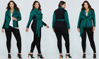 NWT - Lane Bryant Woman's Plus Size Belted Tweed Teal & Black Jacket 1X, 2X, 3X