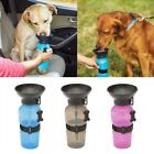 Pet Dog Cat Portable Plastic Feeding Bowl Travel Water Bottle Dispenser Feeder