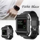 Rugged Protective Case With Silicone Wrist Strap Bands for Fitbit Blaze Watch US image