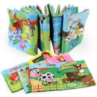 Внешний вид - Baby Shower Bath English Cartoon Animal Cloth Book Early Educational Games Toy
