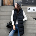 Women's Vest Long Down Jacket Personality Stand Collar Thicker Cotton Waistcoat