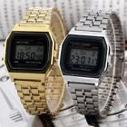 Classic Retro Vintage Style Men Ladies Gold Silver Digital LCD Watch Wristwatch