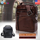 Men Genuine Leather Handbag Messenger Satchel Casual Shoulder Crossbody Tote Bag