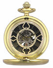 KS Antique Mechanical Poker Face Skeleton Dial Men's Pocket Watch Gift Chain P