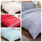 Brushed Cotton Stars Single Or Double Duvet  Choice Of Colours