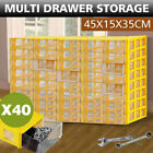 Plastic Storage Bin Drawer Organizer Cabinet Parts Small Tool Box Container Rack