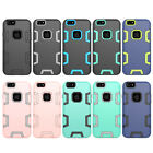 10pcs/lot Dual Layer Robot Hybrid Armor Shockproof Hard Case For iPhone 8 8 plus