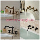 Widespread Bathroom Basin Faucet Vanity Sink Mixer Tap Dual Cross Handle Tap NEW