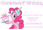 personalised photo paper card party invites invitations MY LITTLE PONY #4