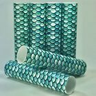Aqua Blue Fish Scale Candle Covers / Socket Sleeves Set of 6 Chandelier Tubes