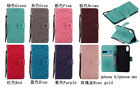 10pcs/lot Embossed Sunflower PU Leather Case Flip Stand Wallet Cover For iPhone