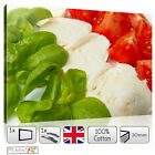ITALIAN Flag Food Canvas - Picture Print STRETCHED - Wall Art READY to Hang