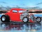 1933 Ford 3 Window Coupe Hiboy Car Art Print 3 Color Choices 11x14 Artist Direct