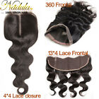 Nadula 7AMalaysian Body Wave Human Hair Closure 360 Frontal/Lace Closure/Frontal