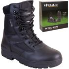 ARMY CADET BOOTS MENS BOYS UK 3 - UK 12 WORKWEAR MILITARY FOOTWEAR BLACK POLICE