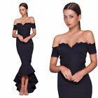 Elle Zeitoune UK Off The Shoulder Navy Ball Gown Formal Evening Long Prom Dress