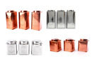 Set of 3 Copper/Silver Tins Tea, Coffee & Sugar Storage Canisters Jars 2 Sizes