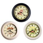 10Metal Silent Quartz Wall Clock, Silent Non-ticking Special for Small Space
